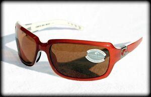 New-150-Costa-Del-Mar-Isabela-Polarized-Sport-Sunglasses-Salmon-White-Amber