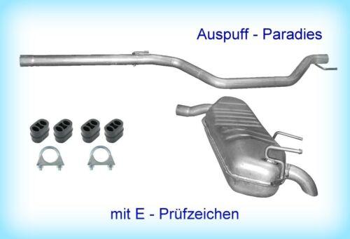 Abgasanlage Auspuffanlage Endschalldämpfer Opel Signum 1.9 CDTi 74KW 110KW Kit