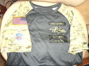 Nike-NFL-Baltimore-Ravens-Shirt-Men-039-s-Size-Small-DRI-FIT-Salute-to-Service