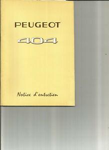 PEUGEOT-404-1971-notice-entretien-carnet-manuel-conduite