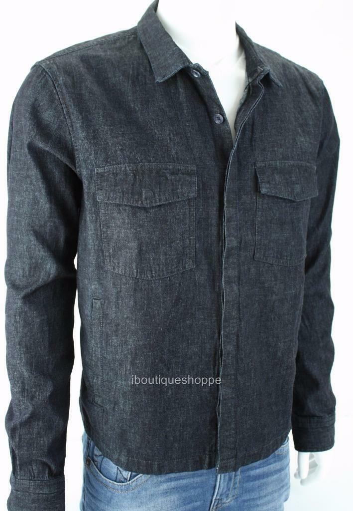 Armani Exchange A X herren Denim Jean halsbandot Trucker Buttoned jacke NWT  140