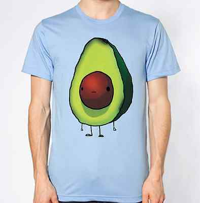 Avocado T-Shirt Fruit Nutrition Top Berry Stick-Man Funny Tee