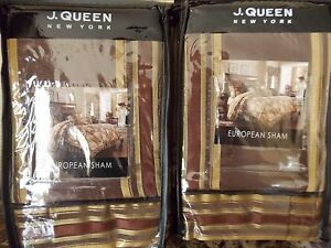 NEW J QUEEN COVENTRY SET OF TWO  EURO  PILLOW SHAMS