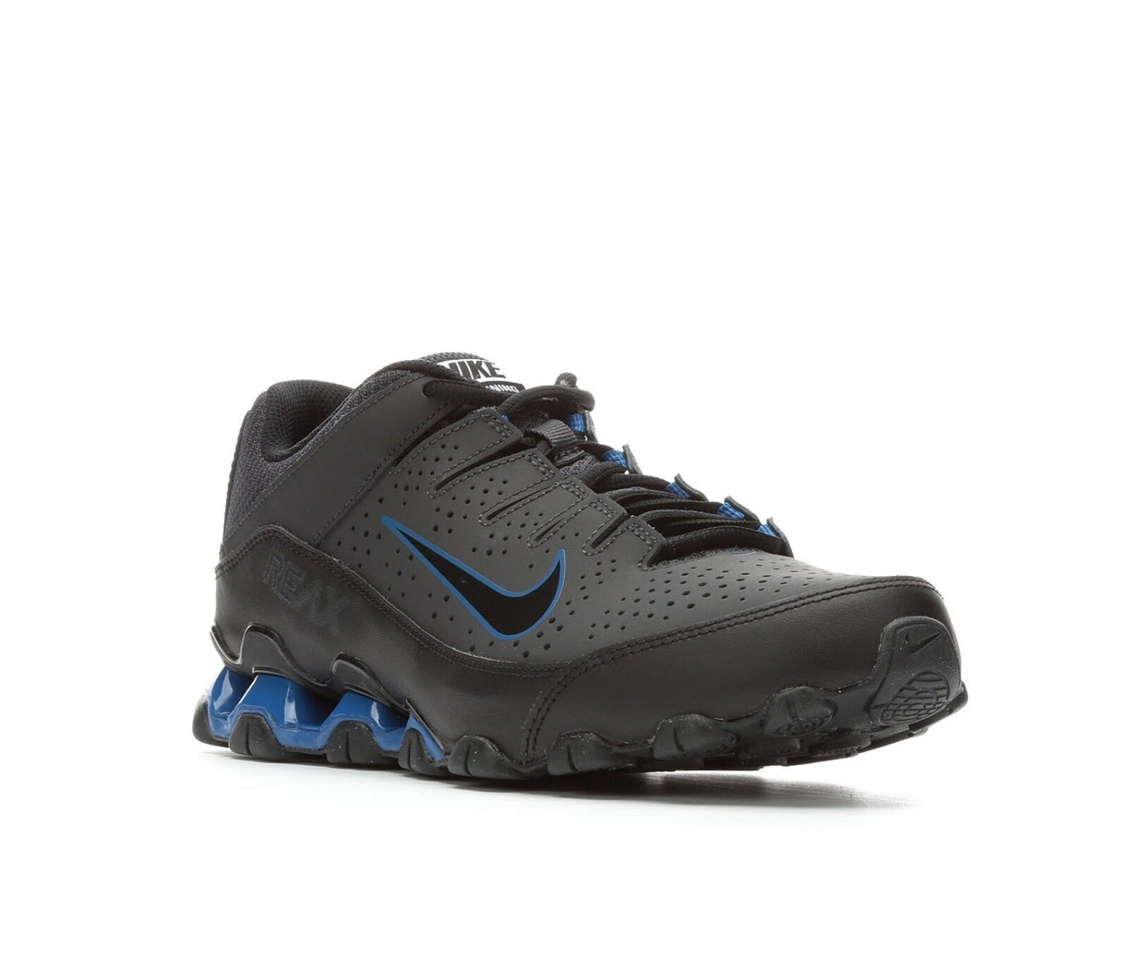 NIB Men's Nike Reax 8 TR 616272 010 Leather Running  Training Shoes Torch BkBl