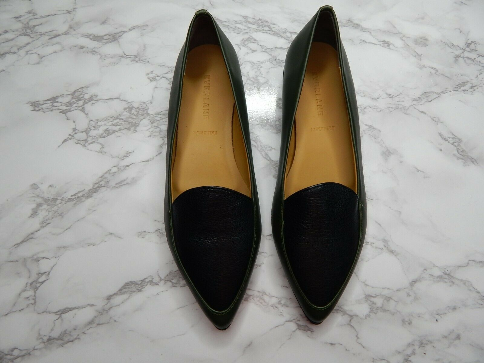 Everlane donna the Modern Point Flat verde nero Sz 6.5   controlla il più economico