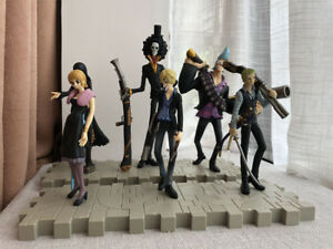 9Ps/set One Piece Figure Black Armed Straw Hat Pirates Luffy Nami Zoro Toy Gift