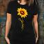 Jesus-Christ-Cross-Sunflower-T-Shirt-Gift-For-Christian-Women-Tee-Faith-In-God miniature 2