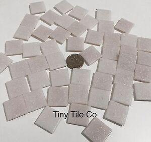 50pcs-White-Pink-Glass-Mosaic-Tiles