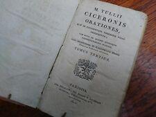 M Tullii Ciceronis Orationes Tomus Tertius 1811 Lallemand Parisiis antik Buch