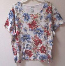 952294239d5 Rebecca Malone Women  Blouse XX Plus Size Top 2x Short Sleeve Shirt ...