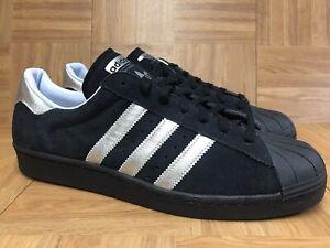 e51a769ac38b RARE🔥 Adidas Superstar Shoes Black Silver Gold Suede Sz 13 B94463 ...