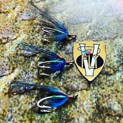 3 Ghillie Salmon flies size 10 Gold Partridge Patriot Doubles.