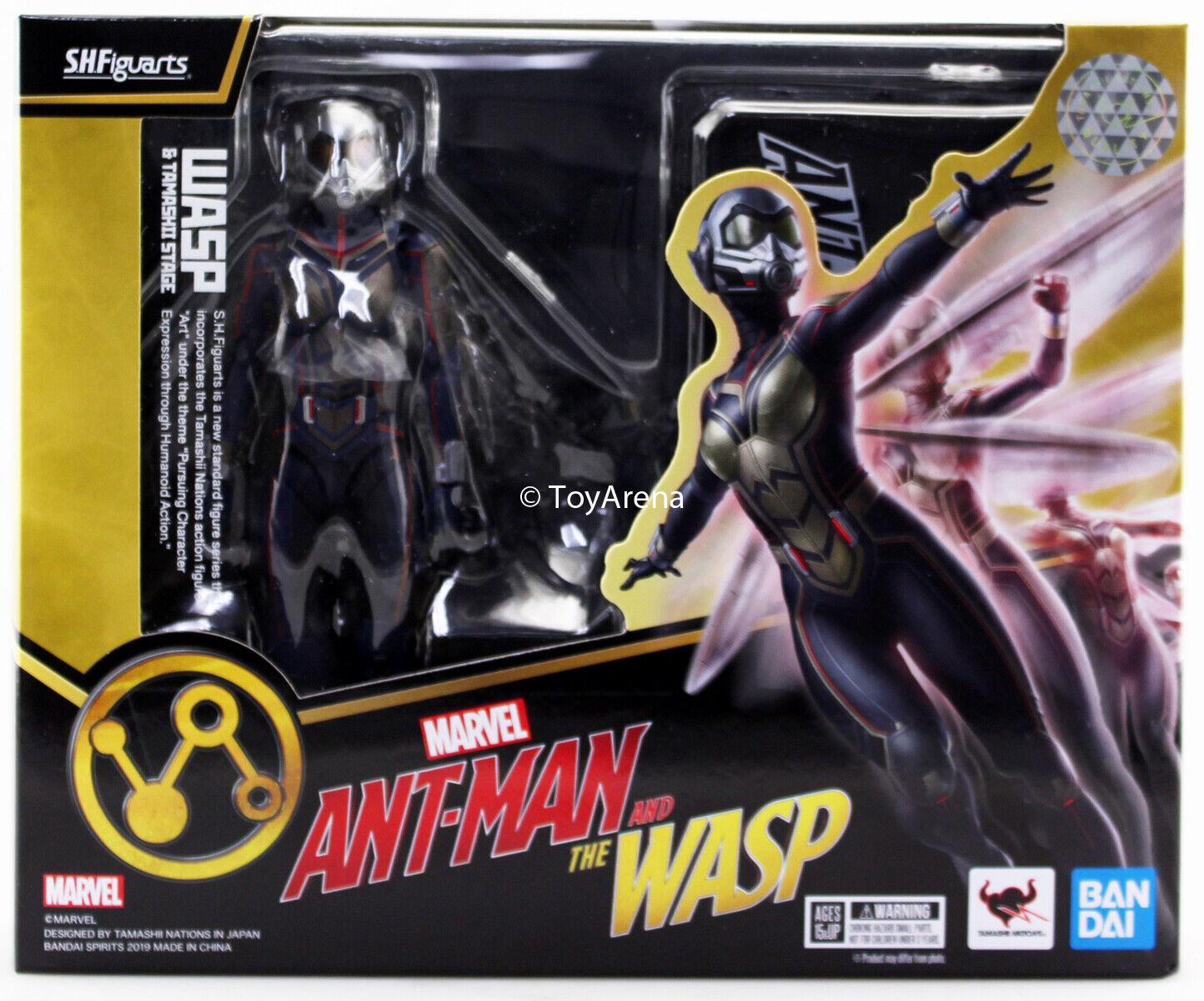 tomar hasta un 70% de descuento S.H. Figuarts Wasp & Tamashii Ant-Man Ant-Man Ant-Man Conjunto de escenario y la Avispa figura de acción EE. UU.  excelentes precios