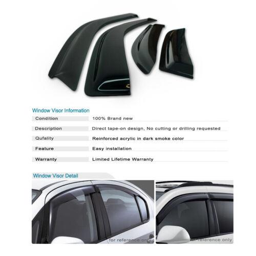 Details about  /Window Visor Guard For Chevy GMC Sierra Silverado Suburban Yukon XL 1500 250.etc