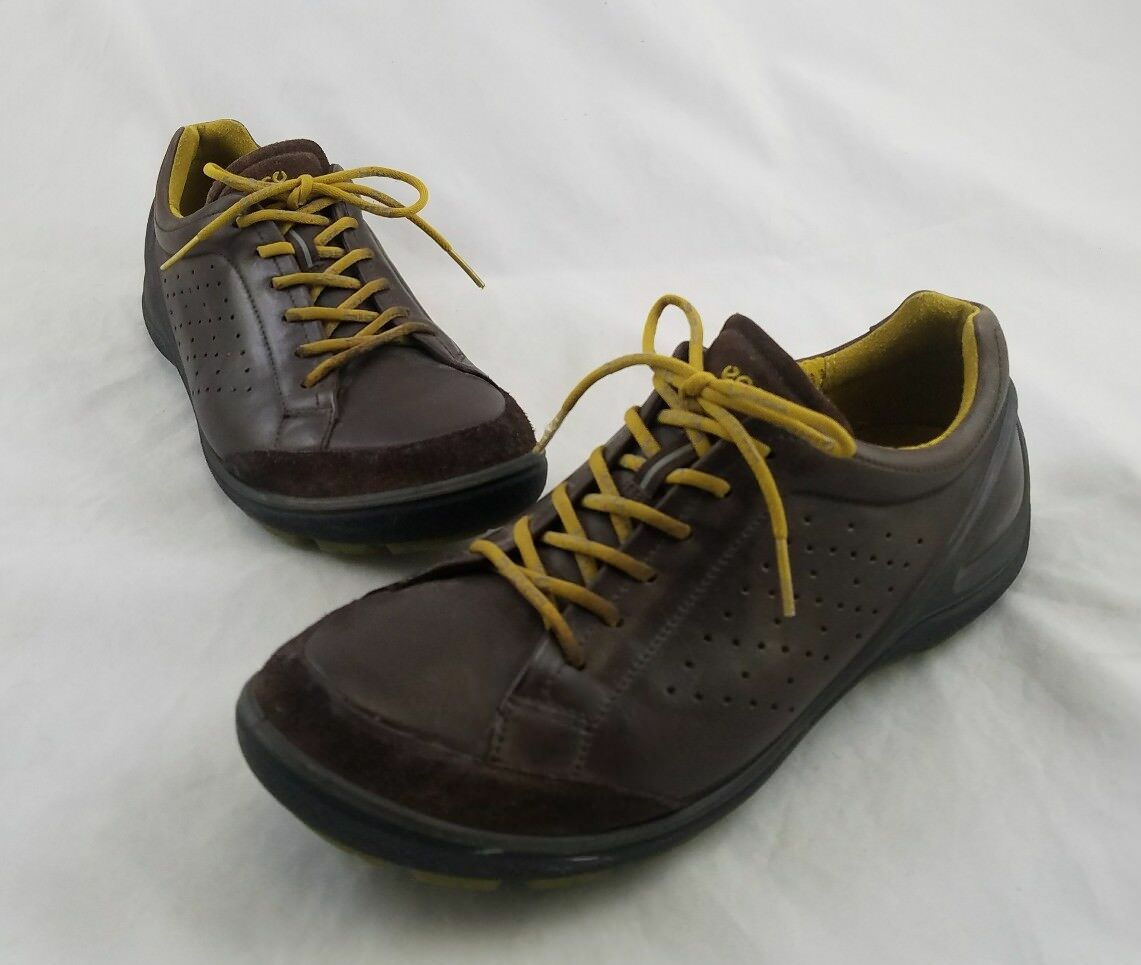 ECCO Biom Grip Leather Sneakers Oxfords Lace-up shoes Brown 39   9 C17