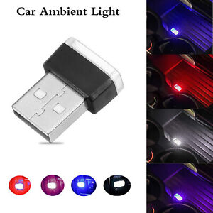 4X-Mini-Flexible-USB-LED-Car-Interior-Light-Strip-Neon-Atmosphere-Tube-Neon-Lamp
