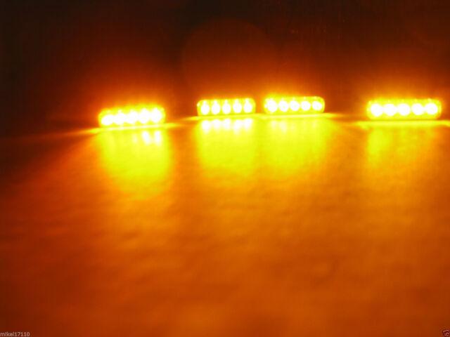 4X BLACK UNIVERSAL MOTORCYCLE TURN SIGNAL LED DUAL SPORT DIRT BIKE LIGHT BLINKER