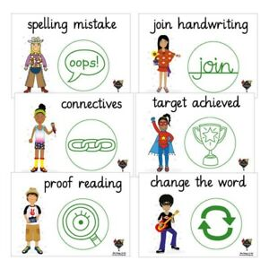 16-X-Pedagogs-Posters-With-Marking-Stampers-Image-Explaination-A4