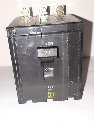 SQUARE D  QOB360VH  3 POLE  60 AMP 22kAIC  BOLT ON CIRCUIT BREAKER