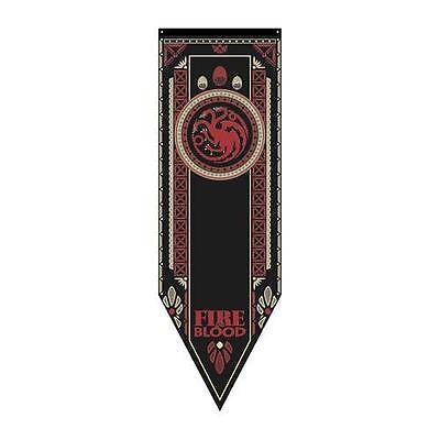 """Game of Thrones XXL 60"""" LICENSED House TARGARYEN Dragon TOURNAMENT Banner FLAG"""