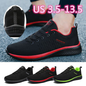 us size 135 men's athletic running shoes breathable
