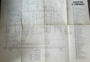 fiat 128 sedan 1975 fiat factory wiring diagram 29 by 23 inches ebayimage is loading fiat 128 sedan 1975 fiat factory wiring diagram