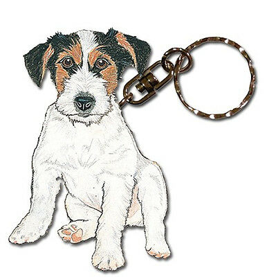 RAWCLIFFE COMPANY JACK RUSSELL TERRIER DOG PEWTER KEY CHAIN