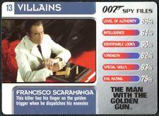 Emilio Largo #7 Villains 007 Spy Files 2002 James Bond Trade Card C1855