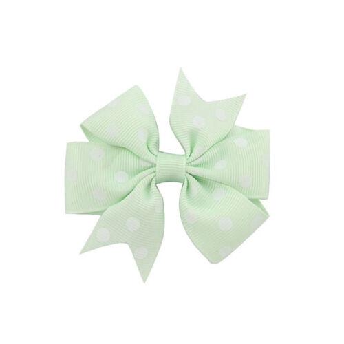 1 Piece Boutique Toddler Baby Polka Dot Grosgrain Hair Bow Girls Hair Pins Clips