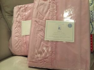 2 Nwt Pottery Barn Kids Lucy Velvet Blackout Drapes 44x84