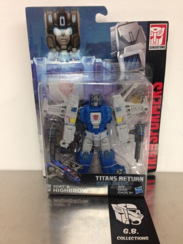 Transformers Titans Return Highbrow /& Xort DLX Class New Sealed