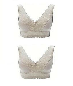 b02cc060af Rhonda Shear Pin Up Lace Overlay Bra 2-pack NUDE - SIZE L - 8H 07d ...