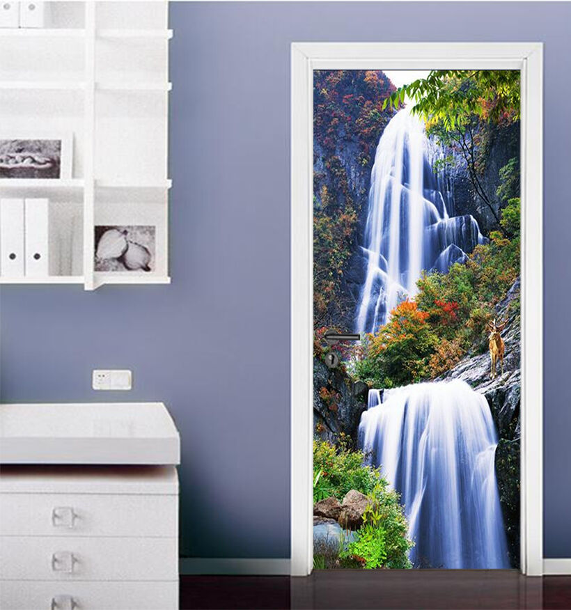 3D 3D 3D Wasserfall 86 Tür Wandmalerei Wandaufkleber Aufkleber AJ WALLPAPER DE Kyra   Qualität und Verbraucher an erster Stelle    Große Klassifizierung    Sale Online  b8cc9f
