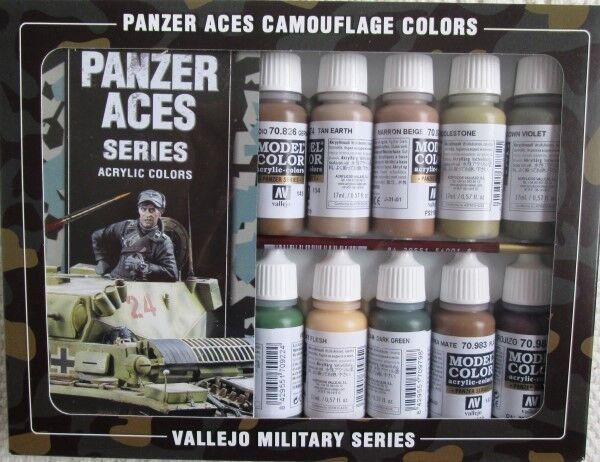 Val70179 - av vallejo modell farbpalette - panzer - asse camouflage - farben (x16)