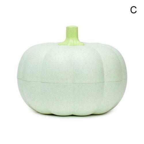 Pumpkin Snack Bowl Plastic Creative Storage Box Double Layers High-quality N5H3