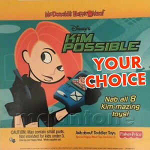 MIP-McDonald-039-s-2003-KIM-POSSIBLE-Disney-MONKEY-FIST-SheGo-PICK-YOUR-FAVE-Toy