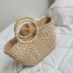 a3d1d5df50 Image is loading Fashionable-Straw-handbag-cute-rattan-straw-bag-weaving-