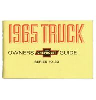 1965 Chevy Truck Owner's Manual