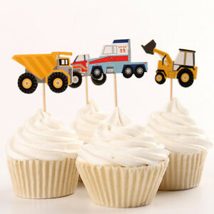 24pcs-Tractor-Cake-Picks-Cupcake-Toppers-Flags-Happy-Birthday-Kid-Party-Decor-YI