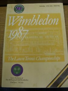 27061987 Tennis Wimbledon Lawn Tennis Championships  Official Programme Six - Birmingham, United Kingdom - 27061987 Tennis Wimbledon Lawn Tennis Championships  Official Programme Six - Birmingham, United Kingdom