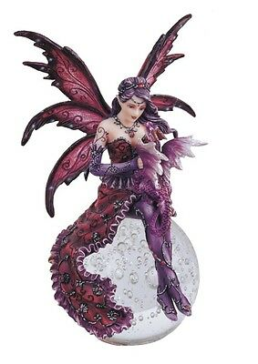 "9"" Inch Fairy with Dragon Sitting on Crystal Ball Statue Figurine Figure"