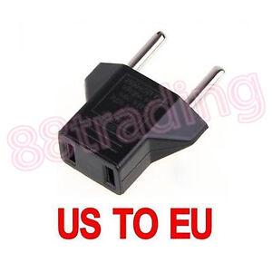 2 x adaptateur pour convertir des etats-unis plat 2-broches connecteur pour rond de l'ue ac prise murale plug-afficher le titre d`origine LvGtzg1i-07205415-424312442
