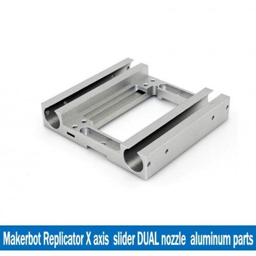 Makerbot Replicator X Axis Slider Metal Dual Carriage Aluminum CTC Flashforge