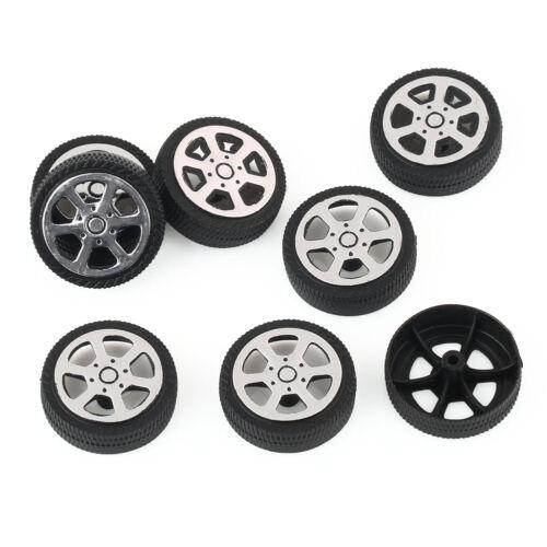8pcs 30*9*1.9mm Plastic Car Tire Toy Wheels Model Robot Part for DIY