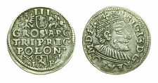 pcc1329_16) Poland 3 Groschen Gröscher 1591 Polen Sigismondo III (1587-1632)