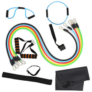 New-13PCS-Resistance-Bands-Workout-Exercise-Yoga-Set-Crossfit-Fitness-Tubes