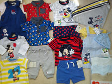 **AMAZING**41x NEW BUNDLE OUTFITS MICKEY SUMMER BABY BOY 0/3 MTHS(3)NR140