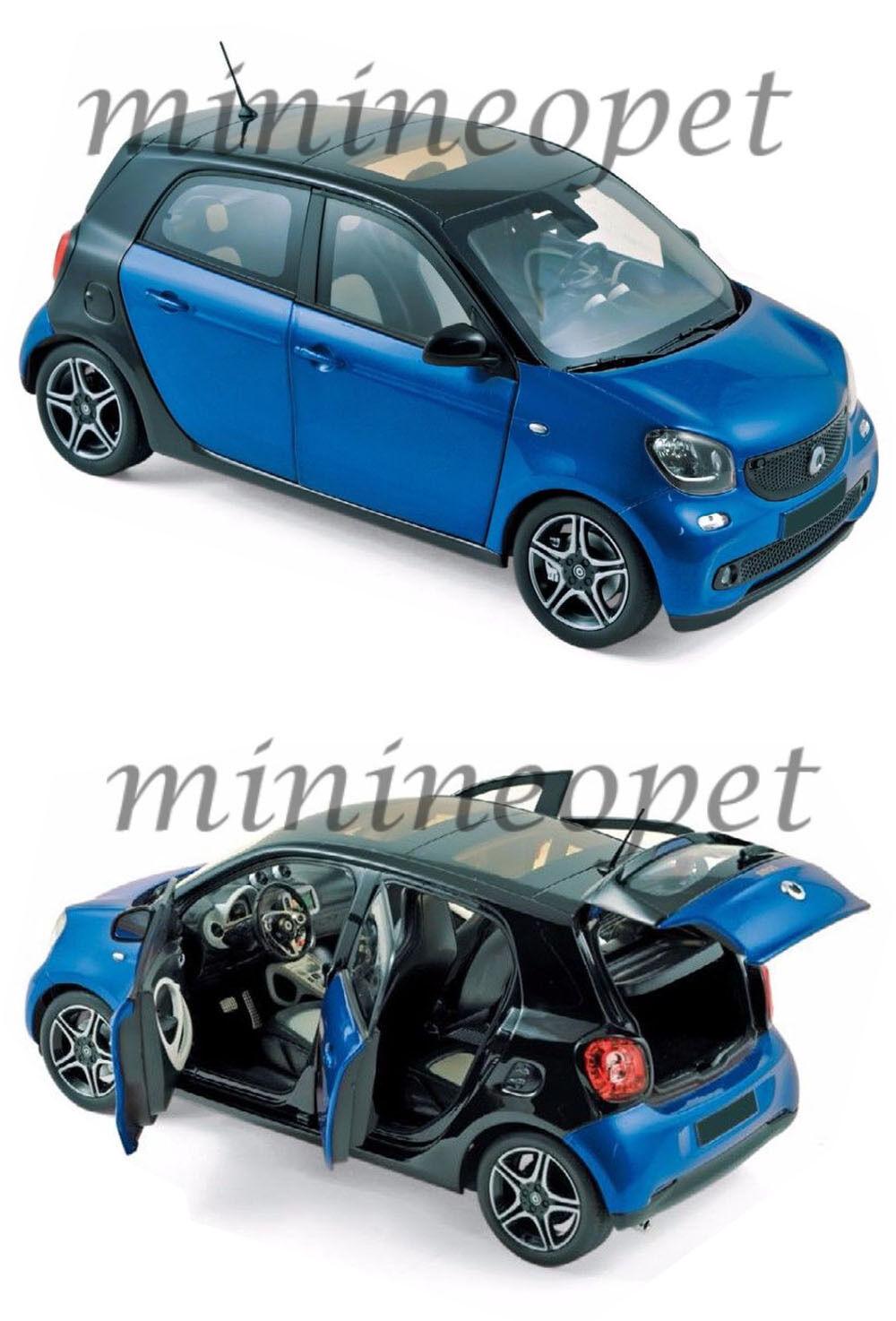 Norev 183435 2015 Smart Forfour 1 18 Diecast Diecast Diecast Modelo Coche Azul e33823