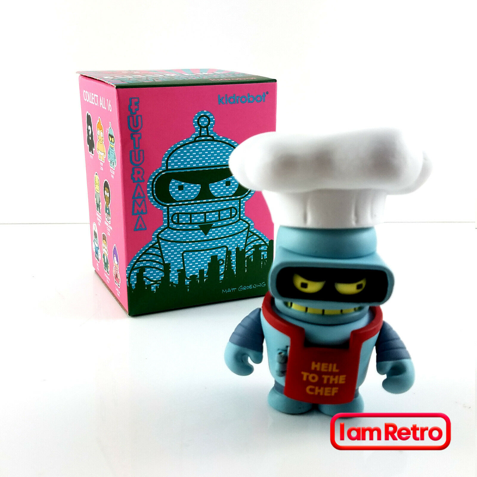 Chef Bender Chase Futurama Good News Everyone 3  Mini Figure Kidrobot Brand New