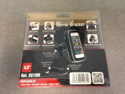 """SHAD 4.3/"""" UNIVERSAL MOTORCYCLE SCOOTER ATV GPS SMART I PHONE WATER PROOF HOLDER"""